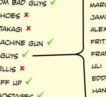 John McClane's To Do List Sticker