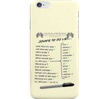 John McClane's To Do List iPhone Case/Skin