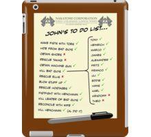 John McClane's To Do List iPad Case/Skin