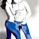 Lovers in blue jeans by Michael Birchmore