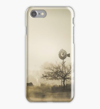 Windmill in the Fog iPhone Case/Skin