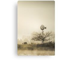 Windmill in the Fog Canvas Print