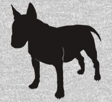 Bull terrier silhouette Kids Tee