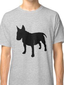Bull terrier silhouette Classic T-Shirt