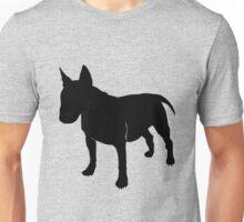 Bull terrier silhouette Unisex T-Shirt