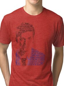 David Tennant as Doctor Who the Time Lord Triumphant  Tri-blend T-Shirt