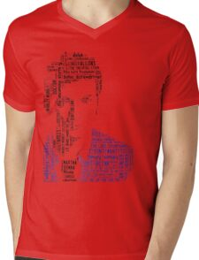 David Tennant as Doctor Who the Time Lord Triumphant  Mens V-Neck T-Shirt
