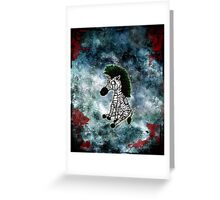 Zazzles the Zombie Zebra Greeting Card