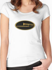 Gold Trombone Women's Fitted Scoop T-Shirt