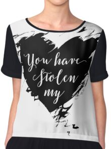 """Stolen"" by Dashboard Confessional (Black) Chiffon Top"