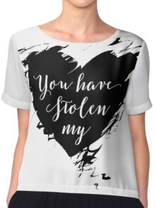"""""""Stolen"""" by Dashboard Confessional (Black) Chiffon Top"""