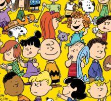charlie brown yellow peanuts Sticker