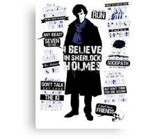 Detective Quotes Canvas Print