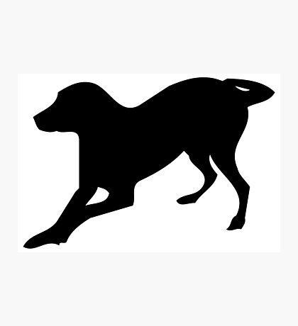 English foxhound dog silhouette Photographic Print