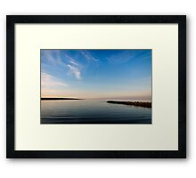 When you are Calm; at Peace Framed Print