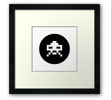 Space invader icon Framed Print