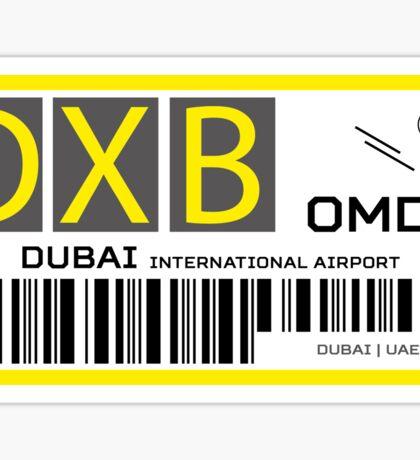 Destination Dubai Airport Sticker