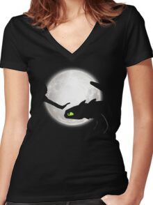 First Touch Women's Fitted V-Neck T-Shirt