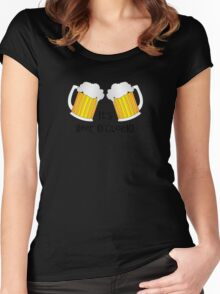 It's Beer O'Clock Funny Oktoberfest Frothy Pint Glasses Women's Fitted Scoop T-Shirt