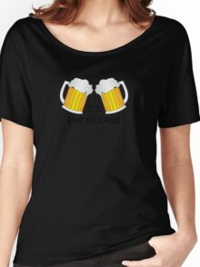 It's Beer O'Clock Funny Oktoberfest Frothy Pint Glasses Women's Relaxed Fit T-Shirt