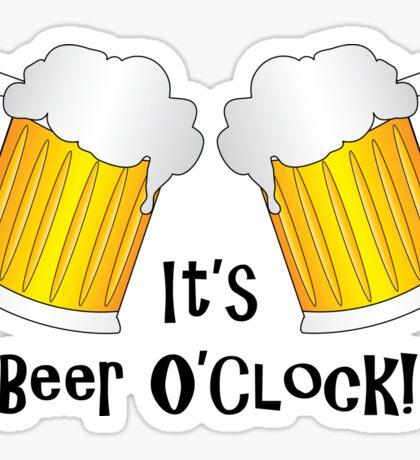 It's Beer O'Clock Funny Oktoberfest Frothy Pint Glasses Sticker