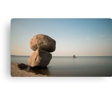 The sun began to sink over the horizon Canvas Print