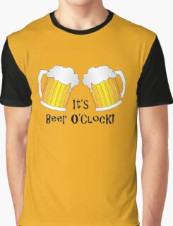 It's Beer O'Clock Funny Oktoberfest Frothy Pint Glasses Graphic T-Shirt