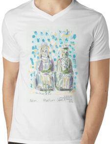 Two Statues in Mee Lun Street Mens V-Neck T-Shirt