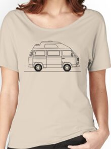 Transporter Hightop camper line art Women's Relaxed Fit T-Shirt