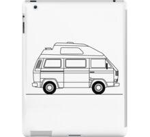 Transporter Hightop camper line art iPad Case/Skin