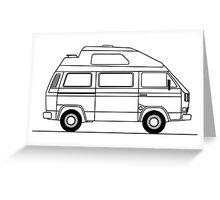 Transporter Hightop camper line art Greeting Card