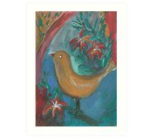 bird on a tree  Art Print
