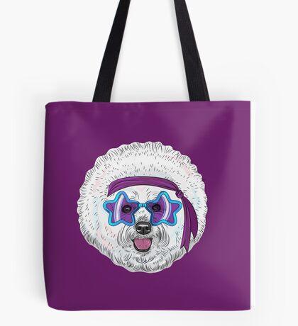 Star Disco dog Bichon Tote Bag