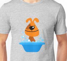 Dog bating in tub Unisex T-Shirt