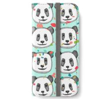splatter pop panda cookies mint iPhone Wallet/Case/Skin