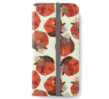 curled fox polka ivory iPhone Wallet/Case/Skin