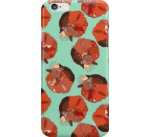 curled fox polka mint iPhone Case/Skin