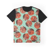 curled fox polka mint Graphic T-Shirt