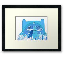 finn ice kingdom Framed Print