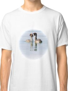That coy look you give me! Crested Grebes, Lago Trasimeno, Umbria, Italy Classic T-Shirt