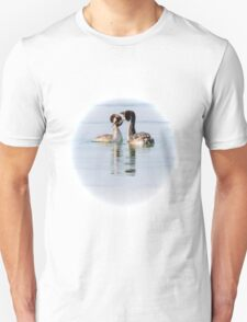 That coy look you give me! Crested Grebes, Lago Trasimeno, Umbria, Italy Unisex T-Shirt