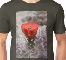 Orange-Red Claret Cup Hedgehog Cactus Flower Unisex T-Shirt
