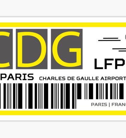 Destination Paris Airport Sticker