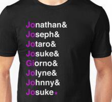 Jojo's Bizzare Helvetica Unisex T-Shirt