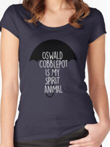Gotham - Cobblepot Spirit Animal Women's Fitted Scoop T-Shirt