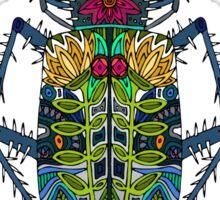 flower beetle turquoise Sticker