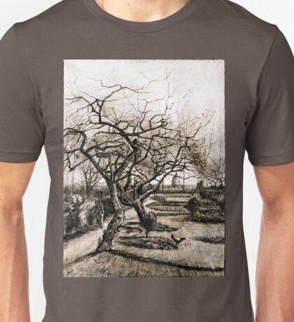 Vincent van Gogh The Parsonage Garden at Nuenen in Winter Unisex T-Shirt