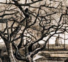 Vincent van Gogh The Parsonage Garden at Nuenen in Winter Sticker