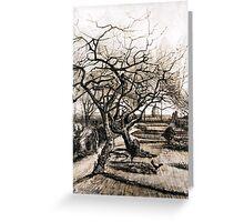 Vincent van Gogh The Parsonage Garden at Nuenen in Winter Greeting Card