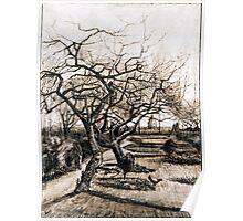 Vincent van Gogh The Parsonage Garden at Nuenen in Winter Poster